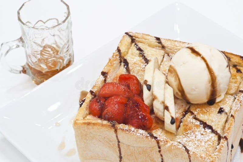Honey toast royalty free stock image