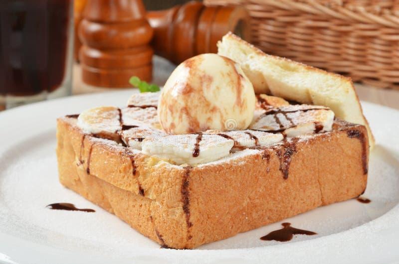 Honey Toast lizenzfreies stockbild