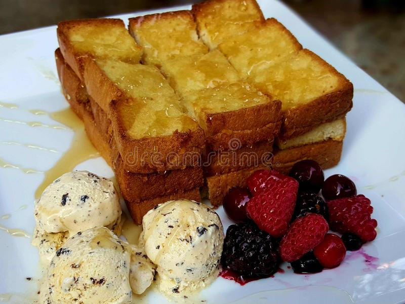 Honey Toast fotografia stock libera da diritti