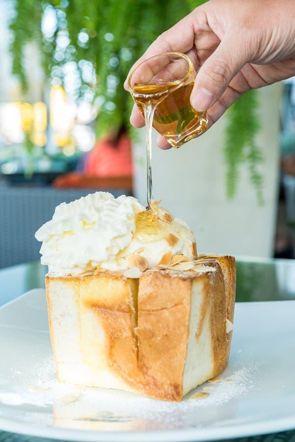 Honey Toast fotografie stock