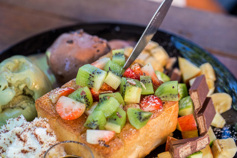 Honey Toast immagine stock libera da diritti