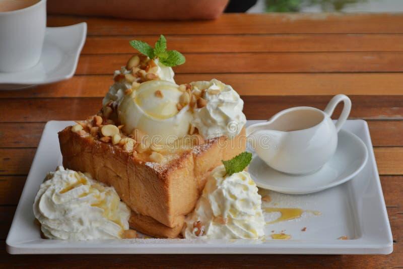 Honey Toast stock afbeelding