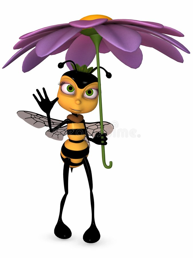Download Honey The Toon Bee stock illustration. Image of figure - 7285895