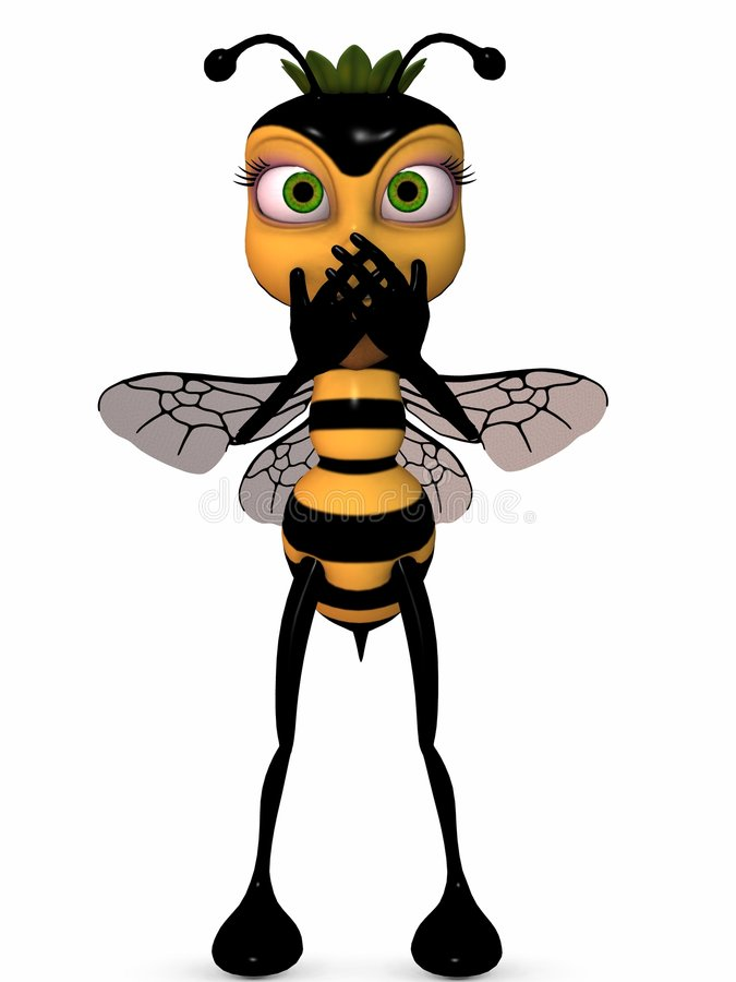 Download Honey The Toon Bee stock illustration. Illustration of gaze - 7285928