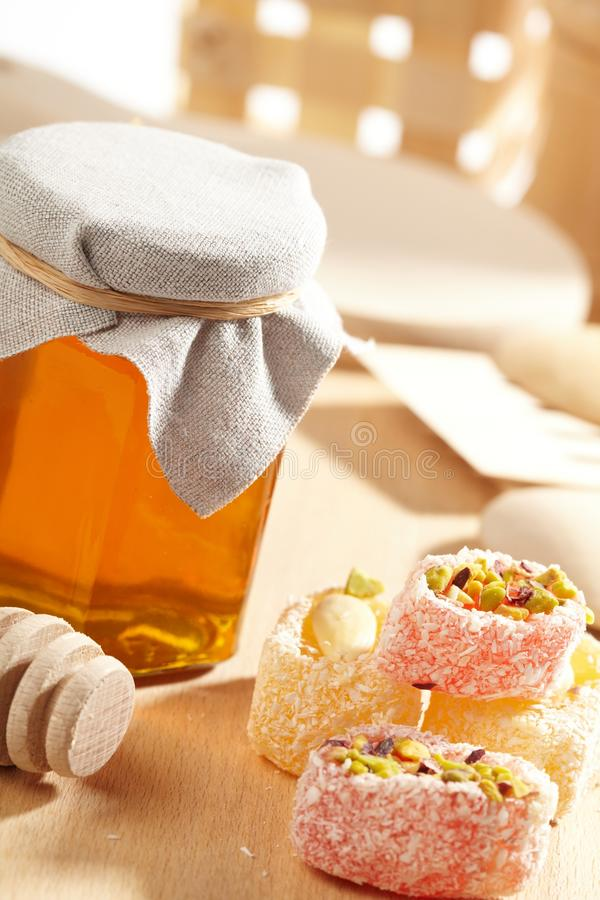 Download Honey with wood stick stock photo. Image of health, sticky - 18899288