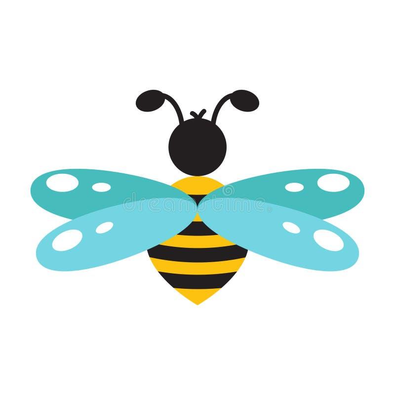 Honeybee cartoon icon isolated vector. vector illustration