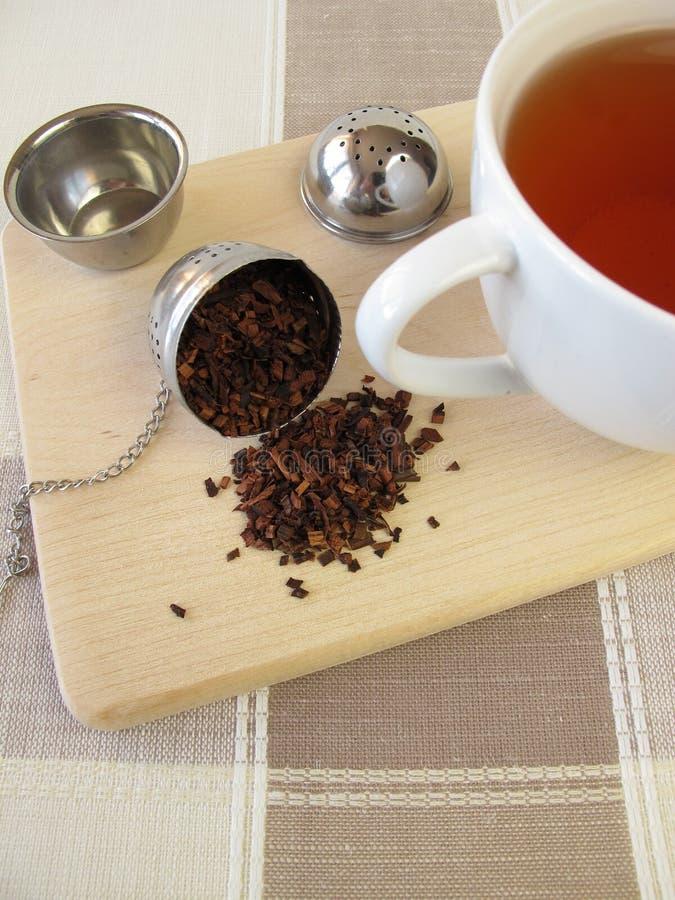 Honeybushtea и шарик infuser чая стоковые изображения