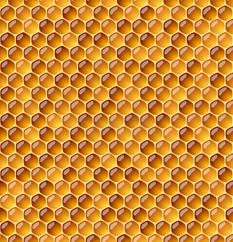 Honeycomb. Seamless vector illustration of honeycomb stock illustration