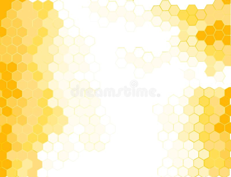 Honeycomb. Image of Honeycomb over white stock illustration