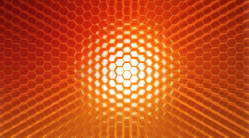 Honeycomb. Abstract background illustration of honeycomb structure royalty free illustration