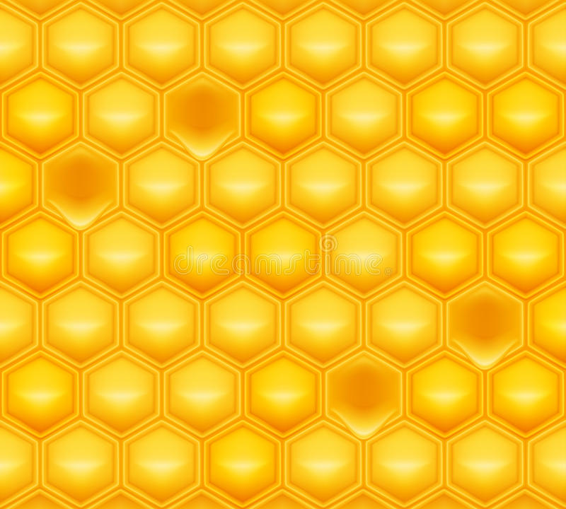 Honeycomb. Computer illustration, isolated on the white royalty free illustration