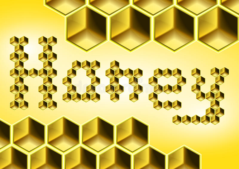 Download Honeycomb stock illustration. Image of font, artifficial - 20729292