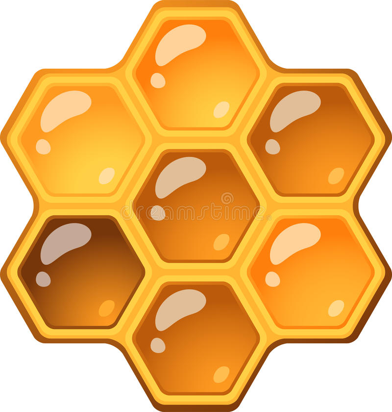 Honeycomb. Isolated over white. EPS 10 royalty free illustration