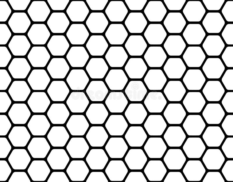 Honeycomb. Black honeycomb pattern isolated on a white vector illustration