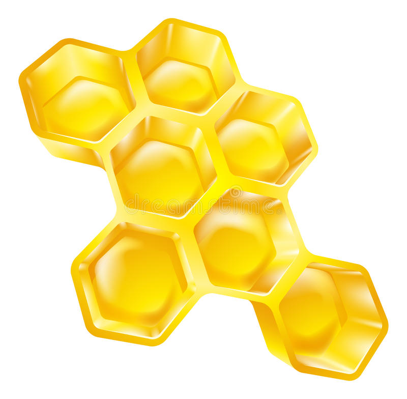 Honeycomb. Illustration of bees wax honeycomb full of delicious honey vector illustration