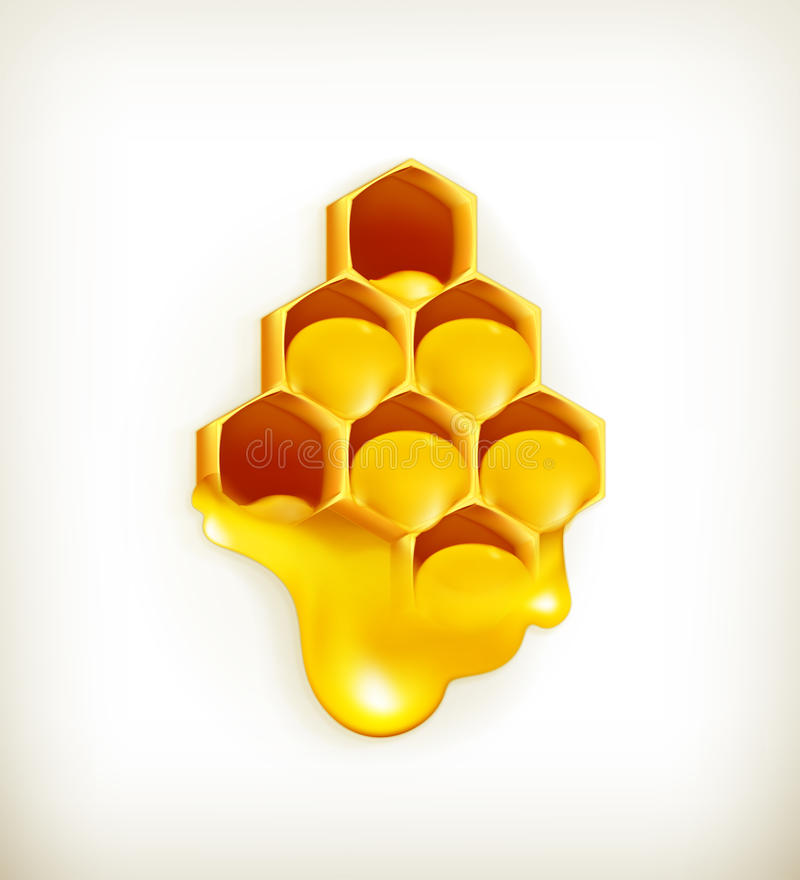 Honeycomb. Computer illustration on white background stock illustration