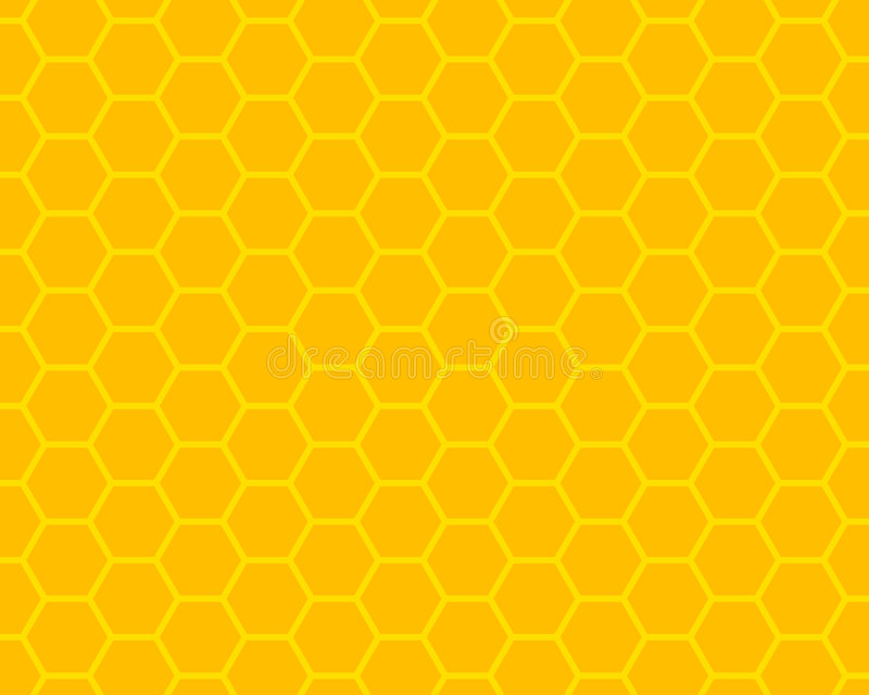 Honeycomb. Orange and yellow honeycomb ornament stock illustration