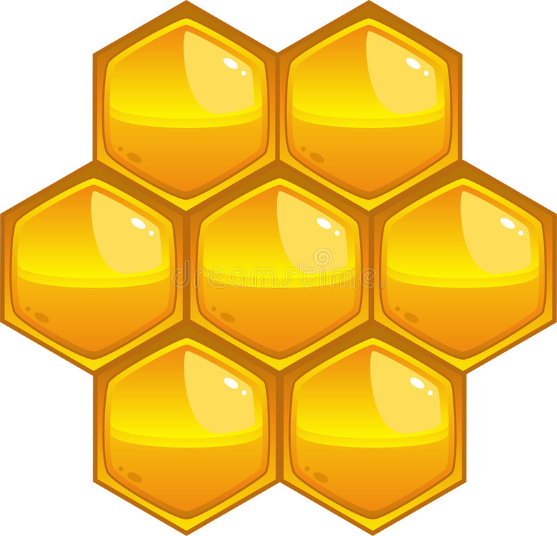 Honeycomb. Isolated on white, eps8 format stock illustration