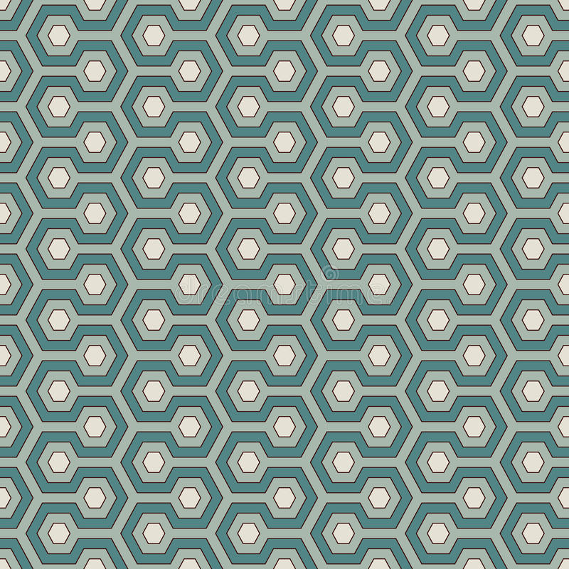 Honeycomb background. Blue colors repeated hexagon tiles wallpaper. Seamless pattern with classic geometric ornament. Honeycomb abstract background. Blue colors vector illustration