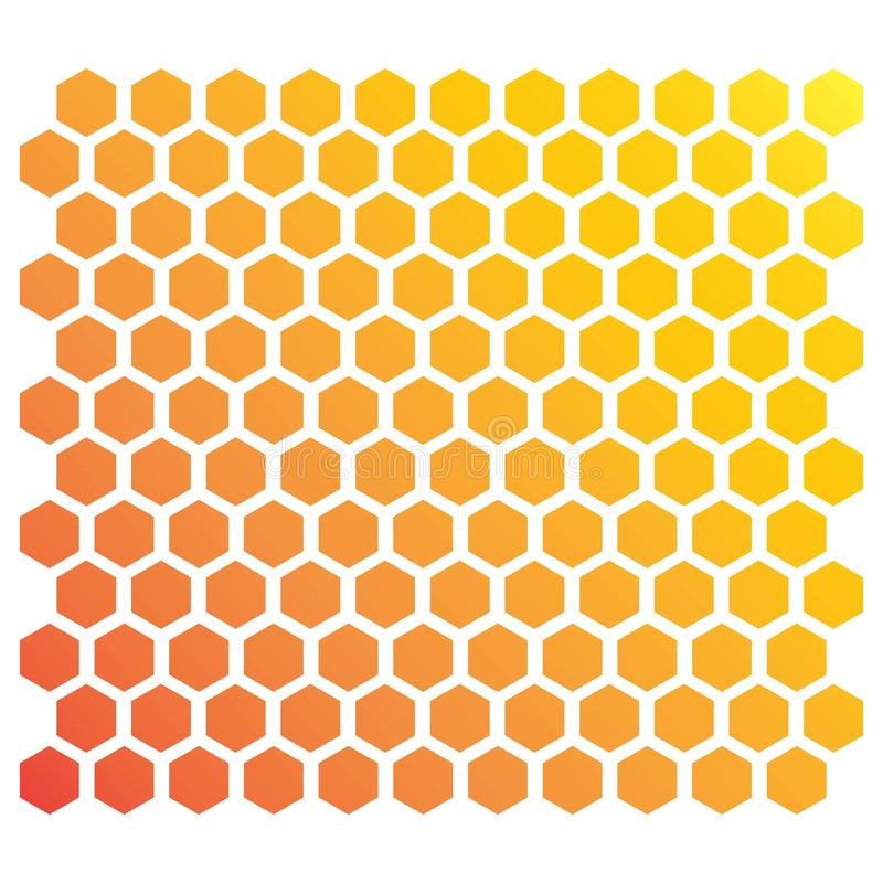 Honeycomb background. Ilustration  vector template, hexagon, abstract, pattern, illustration, design, shape, texture, hive, technology, backdrop, concept stock illustration