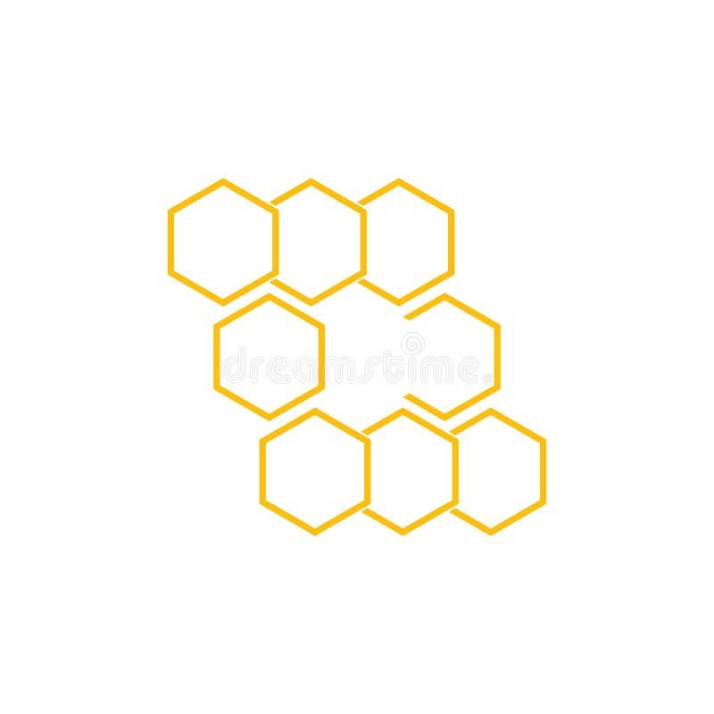 Honeycomb background texture illustration design. Honeycomb background texture illustration design, icon, insignia, natural, nectar, organic, pollen, pot vector illustration