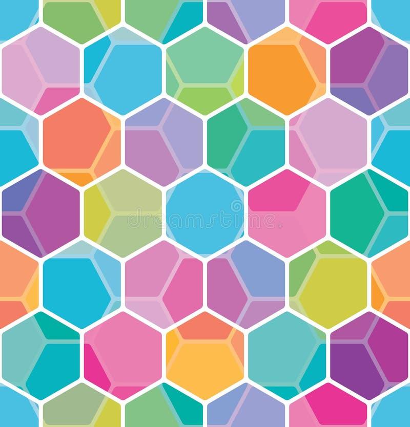 Download Honeycomb Bezszwowy Deseniowy Ilustracja Wektor - Ilustracja złożonej z kolorowy, geomorfologiczny: 41954716