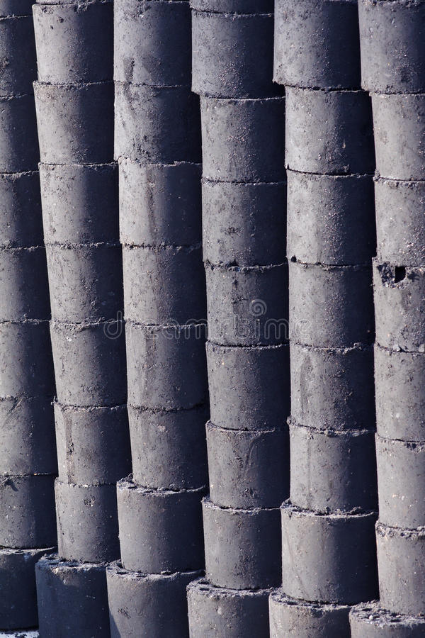 Honeycomb briquette. The background of honeycomb briquette royalty free stock photos