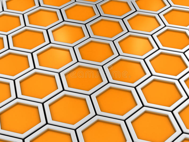 Honeycomb. Full frame background. Network concept vector illustration