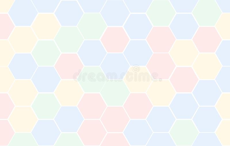 Honeycomb Grid tile random background of multicolor or colorful red blue green and yellow or Hexagonal cell texture. with differen vector illustration