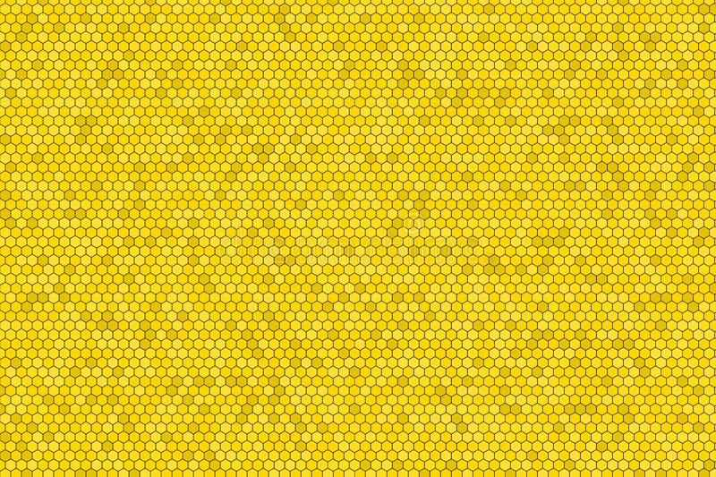 Honeycomb Grid tile seamless background or Hexagonal cell texture. in color Yellow or gold with gradient. Colorful orange or yellow gold or golden of honey royalty free illustration