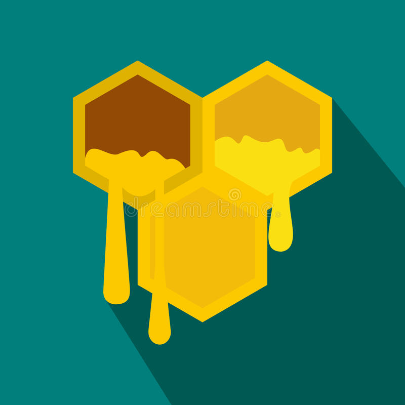 Honeycomb icon in flat style vector illustration