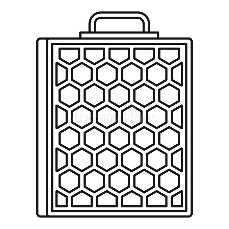 Honeycomb icon, outline style. Honeycomb icon. Outline illustration of honeycomb vector icon for web stock illustration