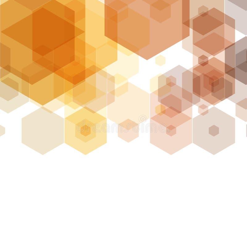 Honeycomb inspirowany Abstrakcjonistyczny geometryczny tło Sześciokąty i trójboki Wektorowa Miarowa tekstura 10 eps royalty ilustracja
