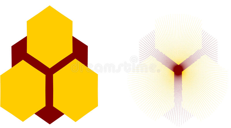 Honeycomb logo royalty free stock photos