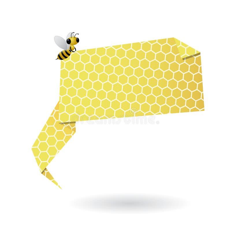 Honeycomb origami speech bubble royalty free illustration