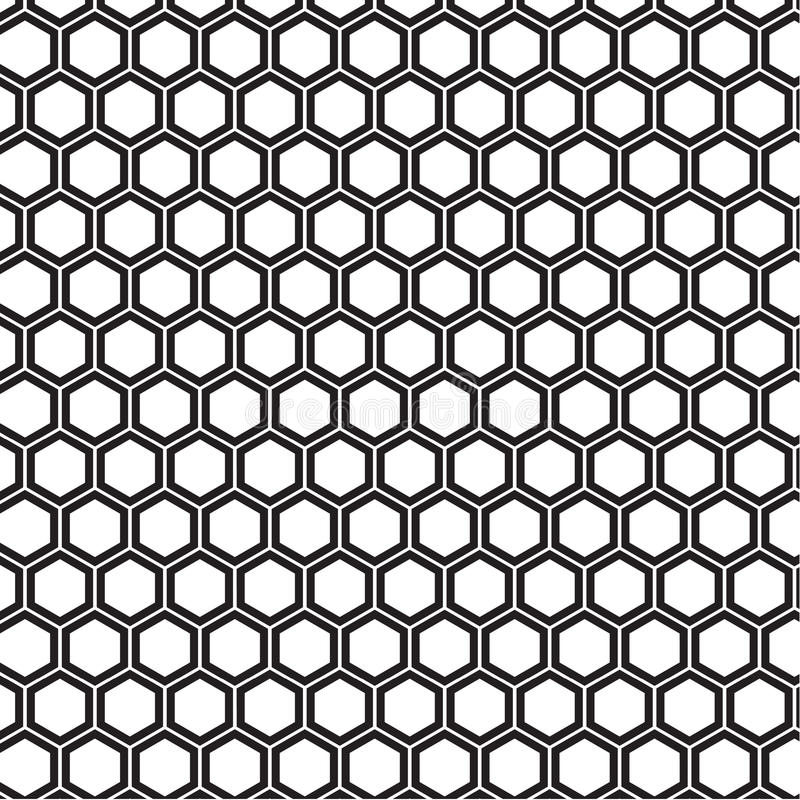 Honeycomb pattern. A seamless honeycomb pattern with thick outlines stock illustration