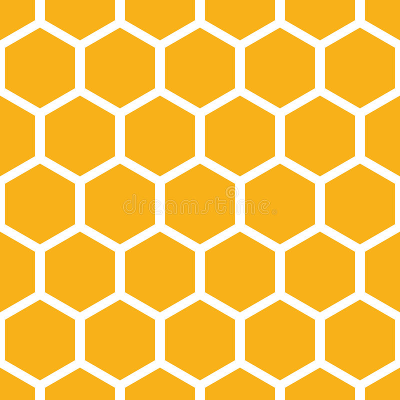 Honeycomb pattern. Honeycomb geometric seamless vector pattern stock illustration