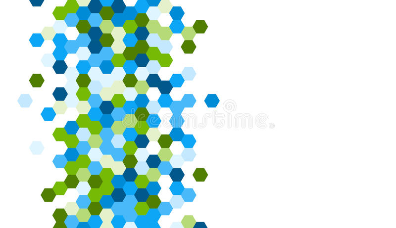 Honeycomb pattern. Grainy pattern composed of hexagones. Honeycomb vector background royalty free illustration