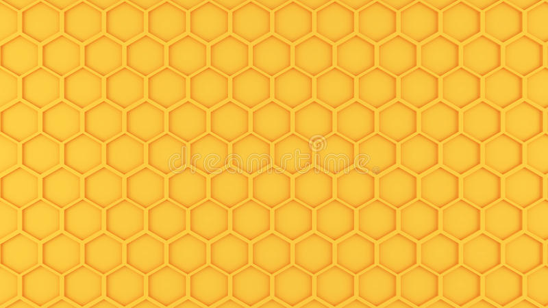 Honeycomb pattern graphic. Yellow Honeycomb pattern graphic background design royalty free illustration