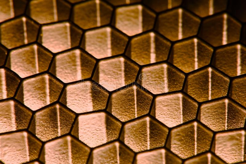 Honeycomb pattern. With shady lighting stock photos