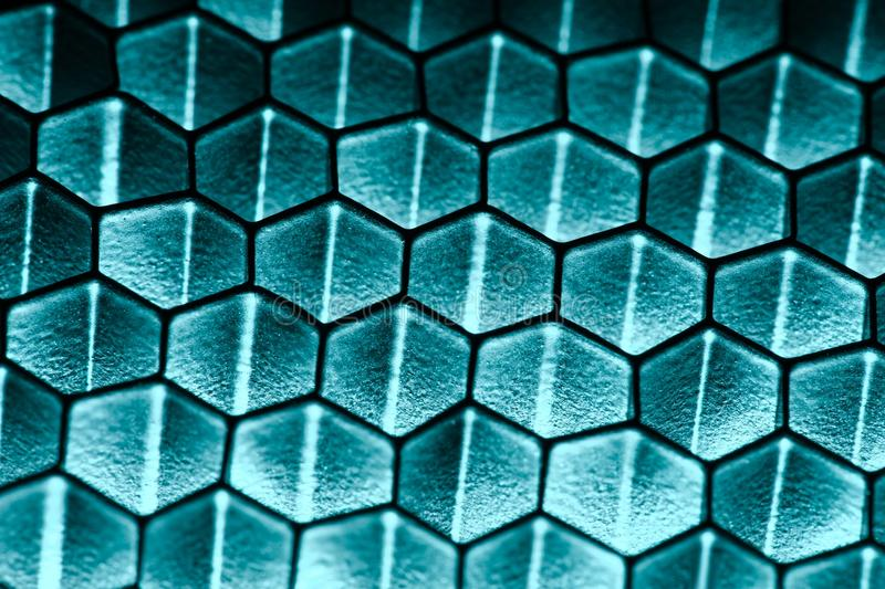 Honeycomb pattern. With shady lighting royalty free stock images