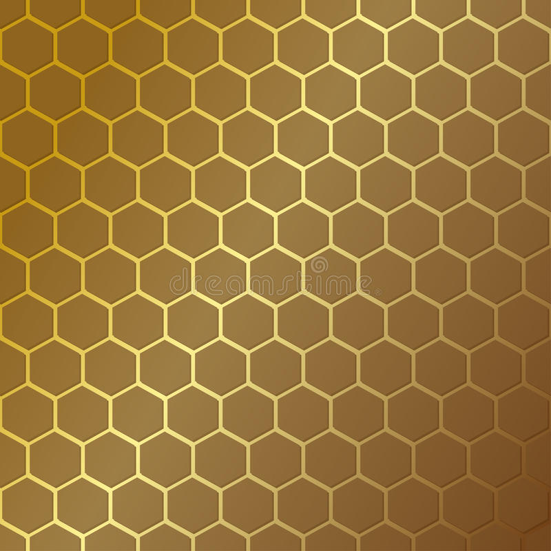 Honeycomb pattern. Vector illustration. Hexagonal cell texture. Grid on the background.Geometric design. Modern stylish abstract t stock illustration