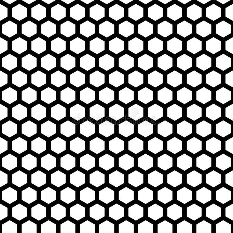 Honeycomb seamless pattern vector illustration
