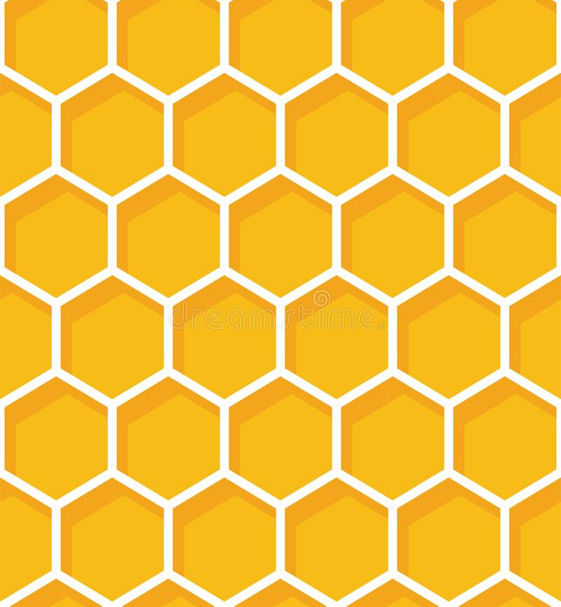 Honeycomb seamless pattern. Vector natural honey background. Honeycomb seamless pattern. Vector natural honey background vector illustration