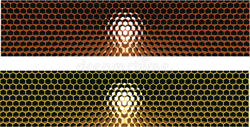 Honeycomb Strip Royalty Free Stock Image