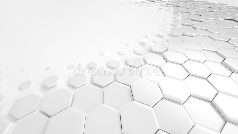 Honeycomb White Background Technology. Illustration royalty free illustration