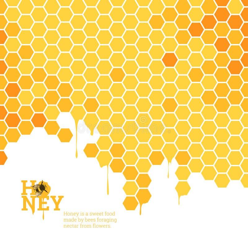 Honeycombs jaskrawy tło ilustracji