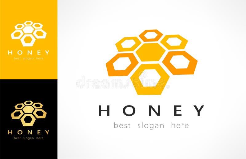 Honeycombs logo vector. Logo design vector illustration royalty free illustration