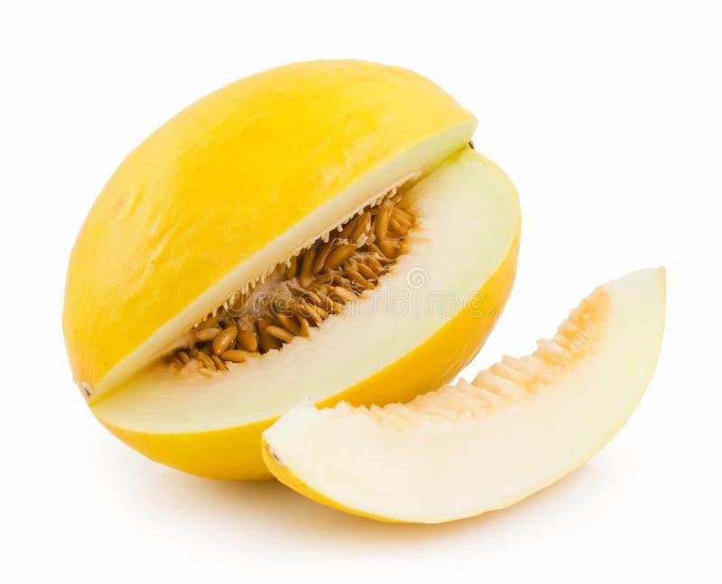 Honeydew melon. Isolated on white stock image