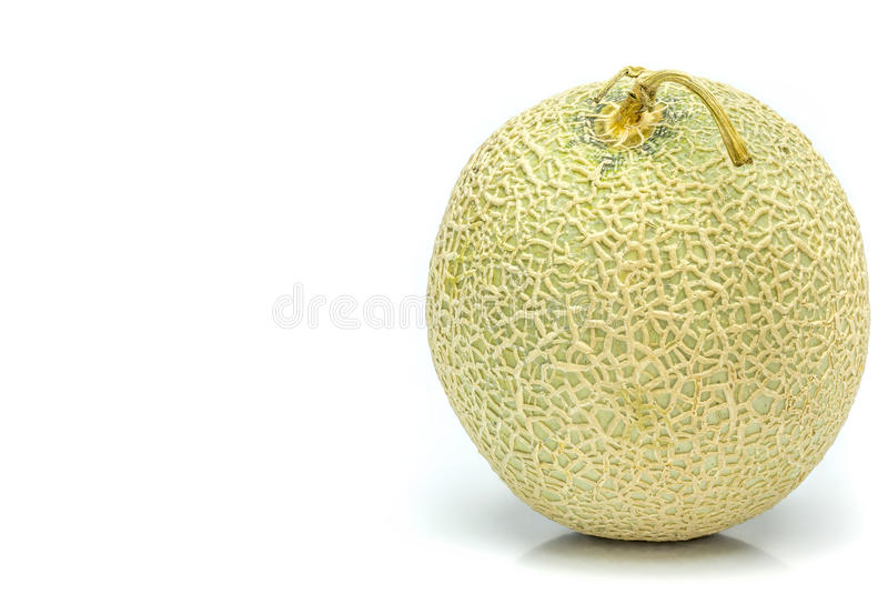 Honeydew melon from Japan on a white background. royalty free stock images